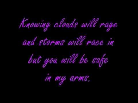 """""""In my arms"""" (Plumb) - for Evie"""