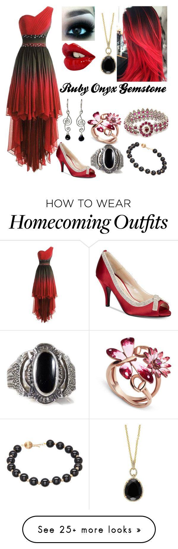 """Ry"" by darkdragon42 on Polyvore featuring Gucci, Caparros, NOVICA and Effy Jewelry"