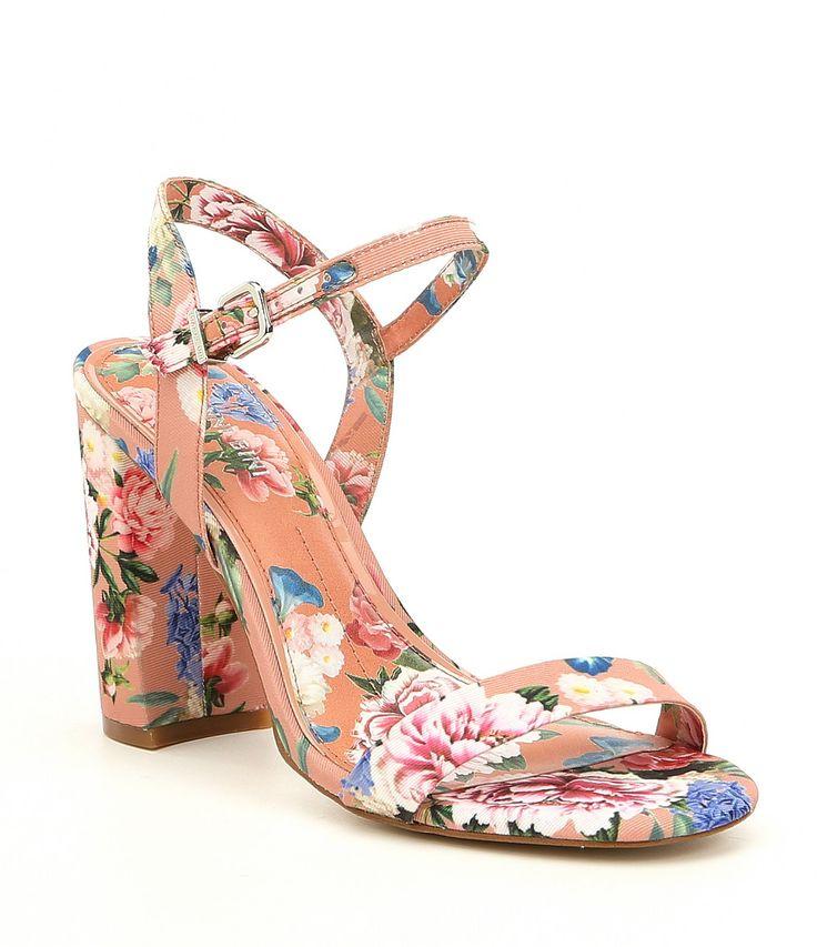 Gianni Bini McKaria Floral Print Block Heel Dress Sandals #Dillards