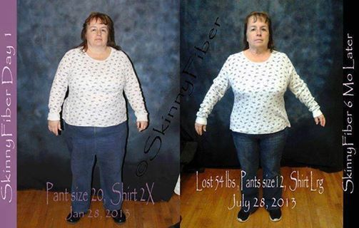 Photo: This is Pam 6 Months on Skinny Fiber & 54…