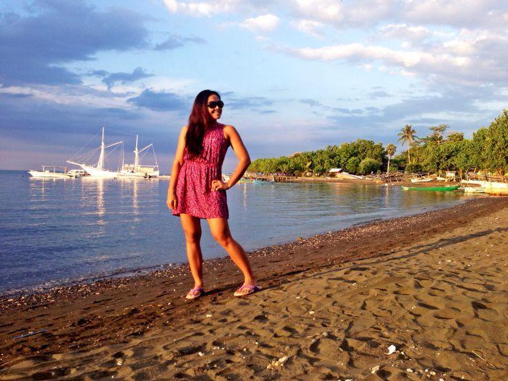 Black sands, clear water at Pemuteran beach