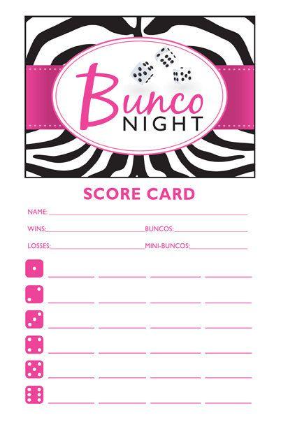 Best Bunco Forms Images On   Bunco Ideas Bunco Party
