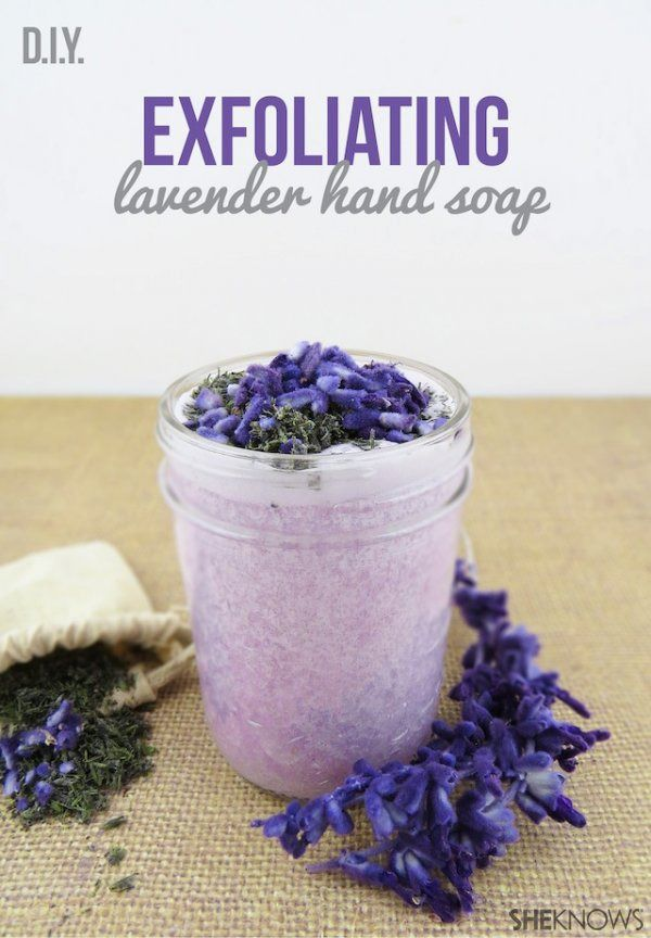 Learn how to make a beautiful Exfoliating Lavender Sugar Scrub with this simple and quick recipe!