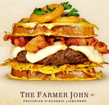 Cheeseburger Hall of fame The Farmer John #burger #recipe