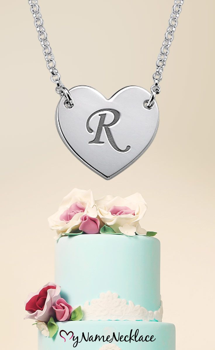 """Just getting married? Get this initial heart necklace with the first letter of the last name you are about to share with your significant other! It is the perfect """"I Love You"""" gesture. Alternatively, treat your lovely bridesmaids with a beautiful personalized keep sake that will bond you all forever"""