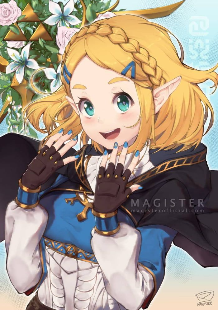 Short Hair Legend Of Zelda Zelda Breath Zelda Art