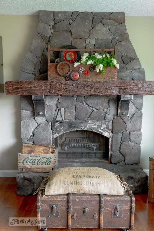 67 best decor fireplaces and mantels images on pinterest for Funky junk home decor newfoundland