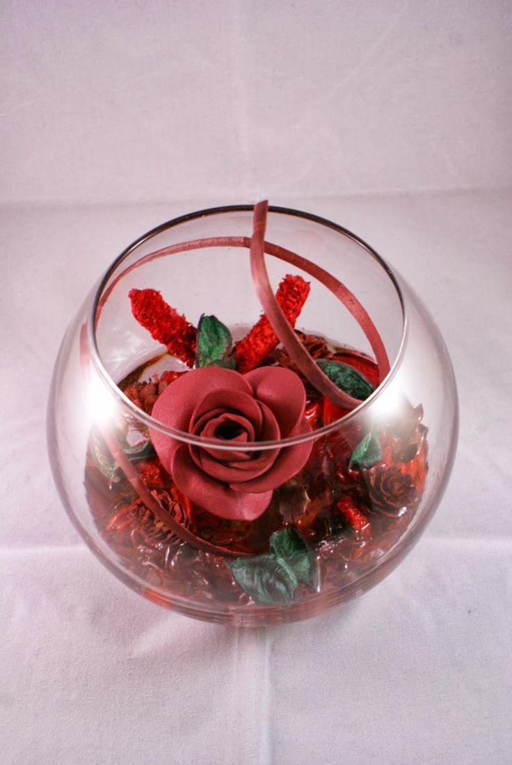 Friki fofuchas pecera centro de mesa con flores mis for Centros de mesa con peceras