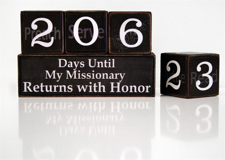 I know this is a Mormon tradition, but I love this idea.   MISSIONARY COUNTDOWN BLOCKS #missionary