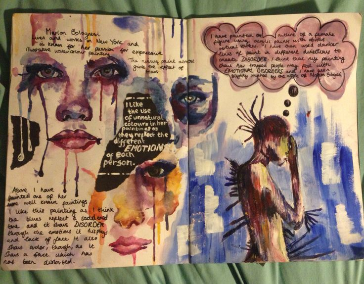 Sketchbook Gcse Art Order And Disorder Pinterest