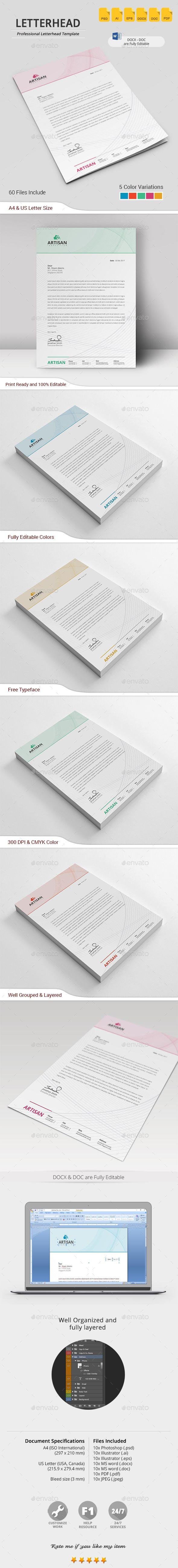 Letterhead — Photoshop PSD #template #paper • Download ➝ https://graphicriver.net/item/letterhead/19760662?ref=pxcr
