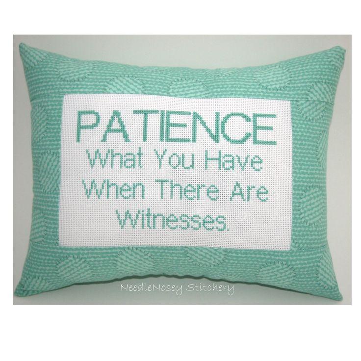 Funny Cross Stitch Pillow    HA!
