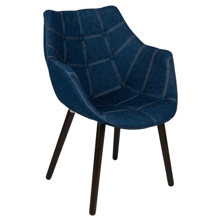 Best Leisuremod Milburn Tufted Denim Lounge Chair In 2019 400 x 300