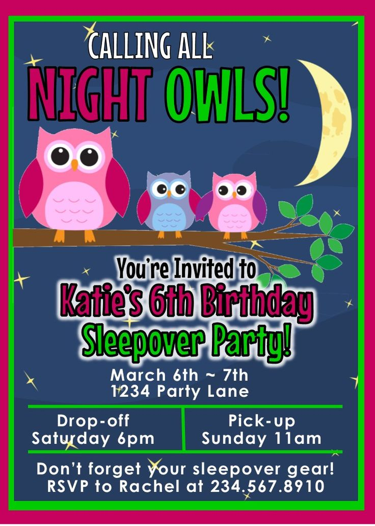 85 best Sheu0027s turning 8! ! images on Pinterest Pajama party, Sweet - best of birthday invitations sleepover party