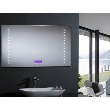 miroir salle de bain avec éclairage LED et système antibuée, haut ...