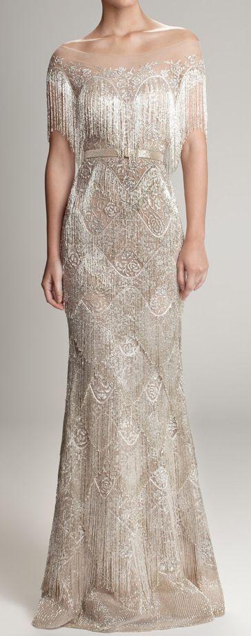 Beautiful art deco inspired wedding gown
