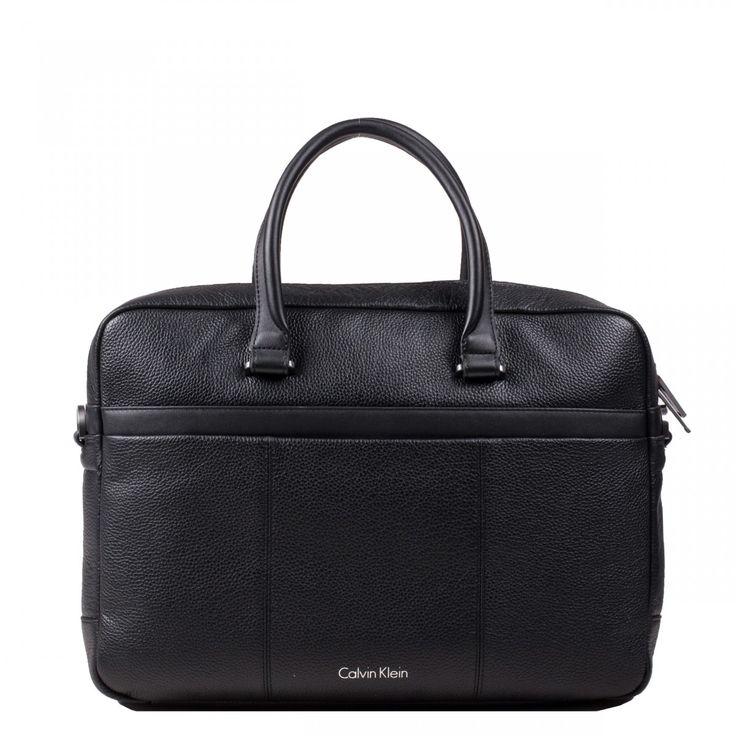 Porte documents pour homme en cuir - Calvin Klein