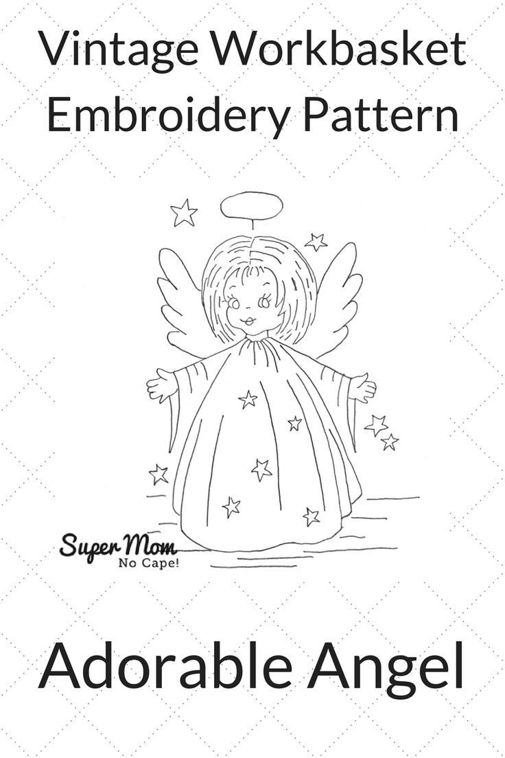 181 best embroidery vintage workbasket patterns images on adorable angel vintage workbasket embroidery pattern click through to download the free pattern from bankloansurffo Choice Image