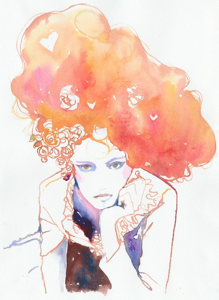 Belle | Cate Parr #watercolor #illustrationFashion Models, Parr Illustration, Cate Parr, Watercolors Art, Fashion Illustration, Big Hair, Victoria Secret Models, Art Illustration, Watercolors Painting