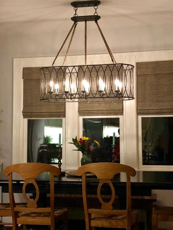 Denley 10 Light Pendant Chandelier Ballard Designs In 2020 Dining Room Lighting Chandeliers Fixtures