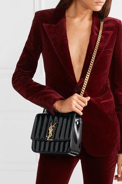 1153e07e4 Saint Laurent | Vicky medium quilted patent-leather shoulder bag |  NET-A-PORTER.COM