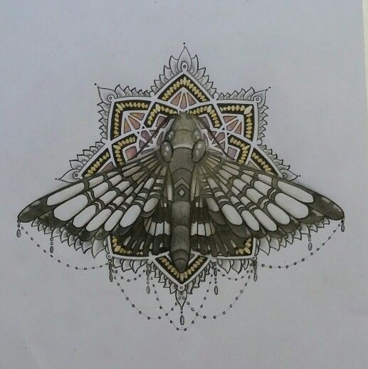 Dangly moth mandala
