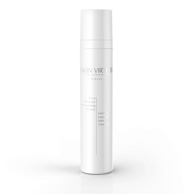 Pure Nourish Regenerating Cream   Hydrating + Liposome Repair Treatmen – Skin Virtue