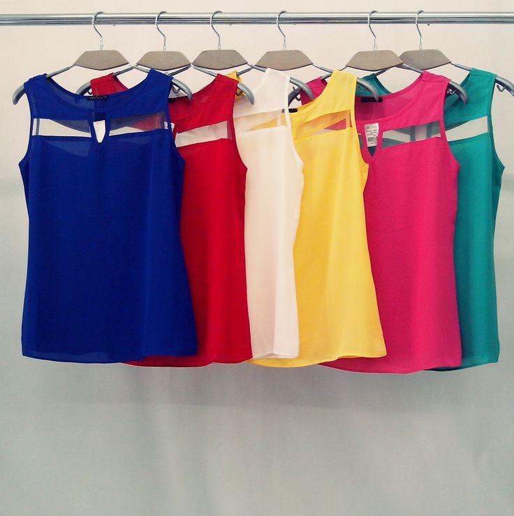 Nossa essa blusa mau chegou e ja esta acabando #blusa #verão #tule