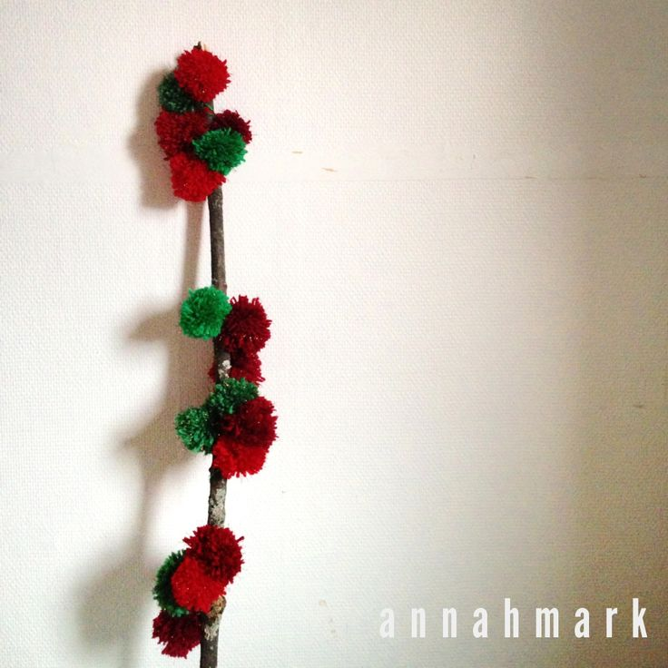 Photography, Styling and wallhanging by annahmark #wallhanging #yarn #light #pompom #pompomwallhanging