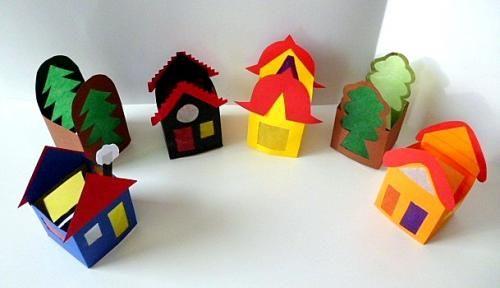bastelsachen3 basteln papier haeuser baeume teelicht h user geb ude vorlagen und. Black Bedroom Furniture Sets. Home Design Ideas