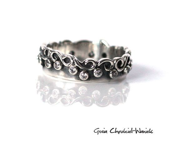 Wedding Band Wedding Ring Silver Wedding Ring by GosiaWaniek