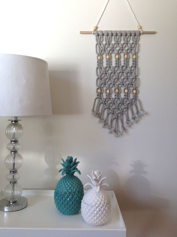 Modern macrame wall hanging home decor pinterest for Home decor wall hanging