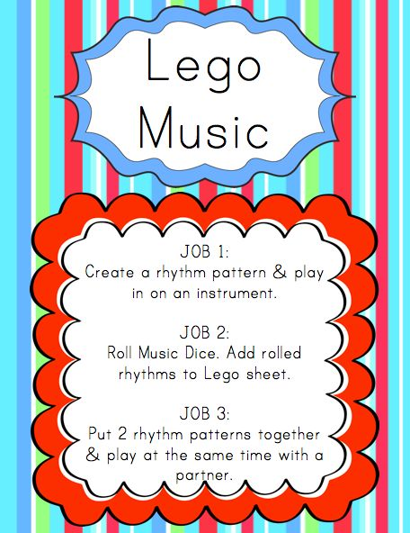 Elementary Music Resources: Centers: Lego Music
