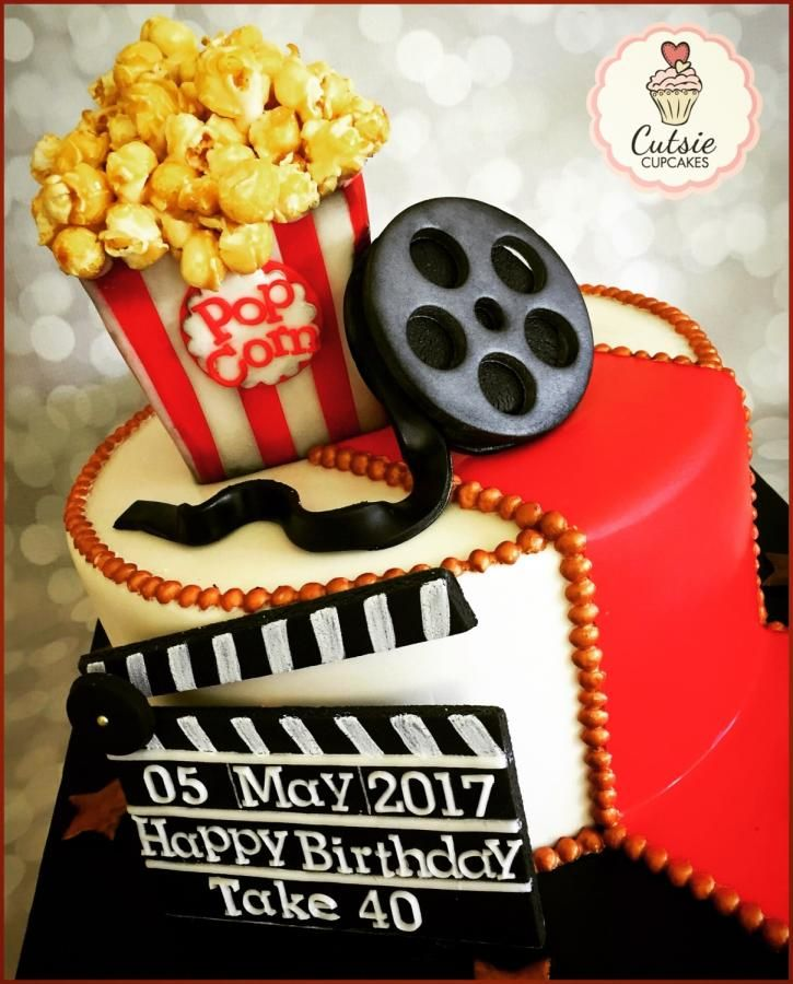 Movie Cake by Cutsie Cupcakes