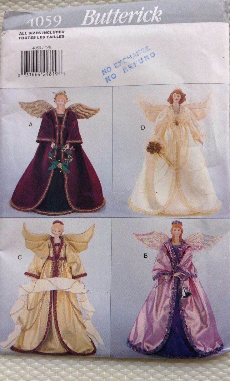 Collectible decorative angels Butterick pattern by Followlight on Etsy