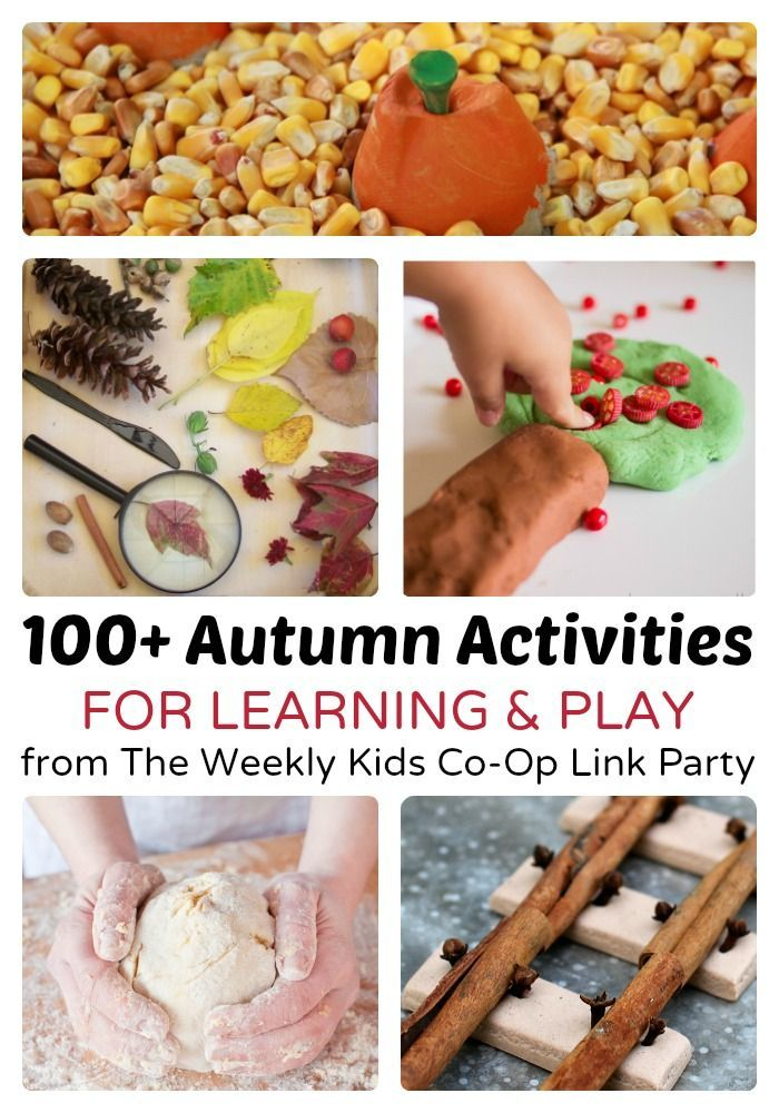 100+ Autumn Activities for Kids and Families - Plus hundreds more kids activities from The Weekly Kids Co-Op Link Party.