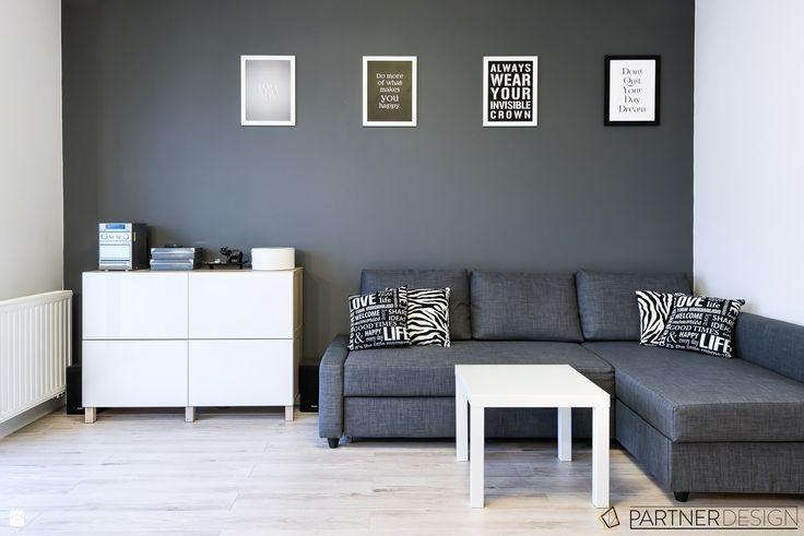 Salon styl Skandynawski - zdjęcie od Partner Design - Salon - Styl Skandynawski - Partner Design
