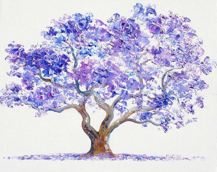 Jacaranda Tree Painting by Jan Matson