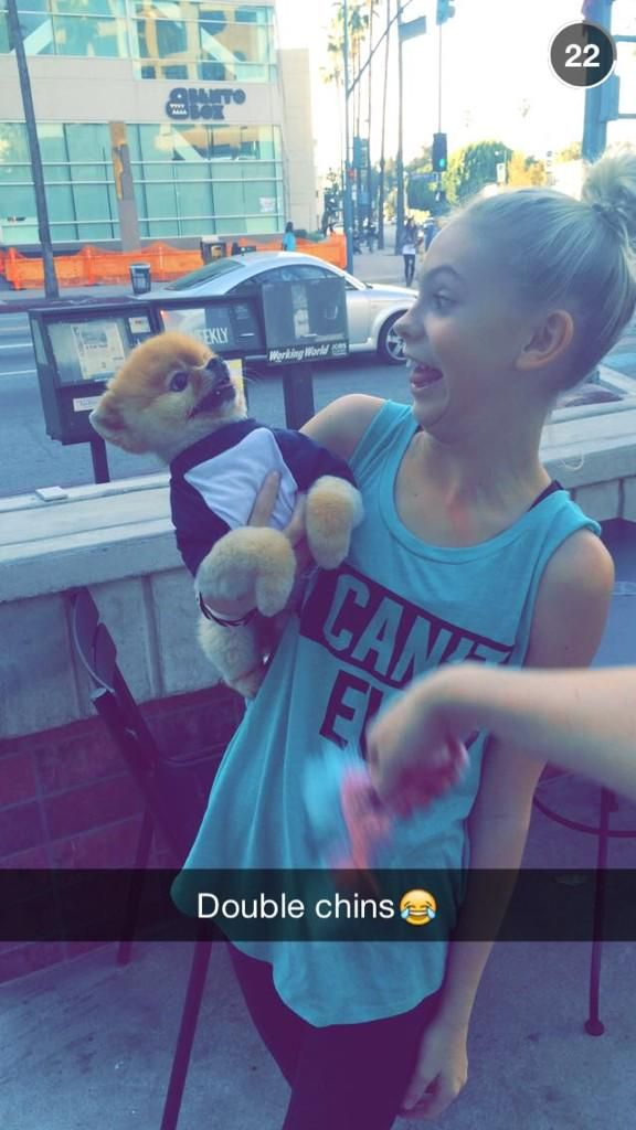 double chins @jiffpom ♡♡and me