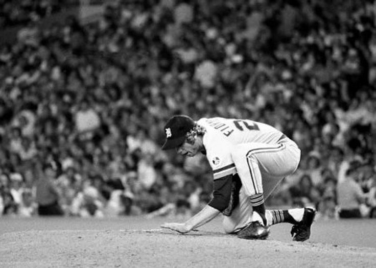 One of baseball's last true characters:  Late Tigers pitcher Mark Fidrych wasn't afraid to be playful on the mound.