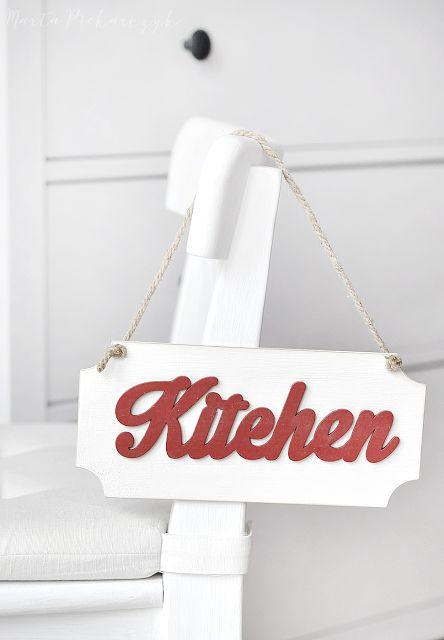 Wood&Crafts - kreatywne malowanie: Kuchenna tabliczka