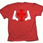 BOONDOCK SAINTS VERITAS AQUITAS Men's Red T-Shirt Size S to 3XL  -T-shirt is made of 100% preshrunk cotton, high-quality and heavyweight. Standard fit.   -Our t-shirt will be printed using high performance digital printing technology in full color with durable photo quality reproduction.  -6.1oz 100% cotton, Standard fit, Heavyweight T-Shirt.    *PLEASE SEND ME A MESSAGE FOR YOUR SIZE*