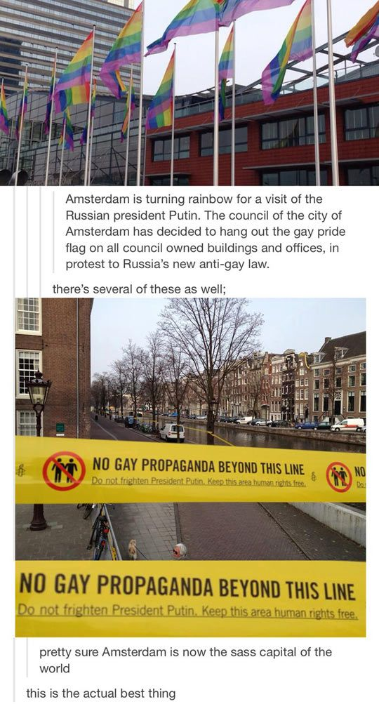 Amsterdam is the sass capital of the world.
