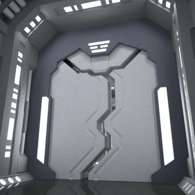 sci-fi Door by AhearnART
