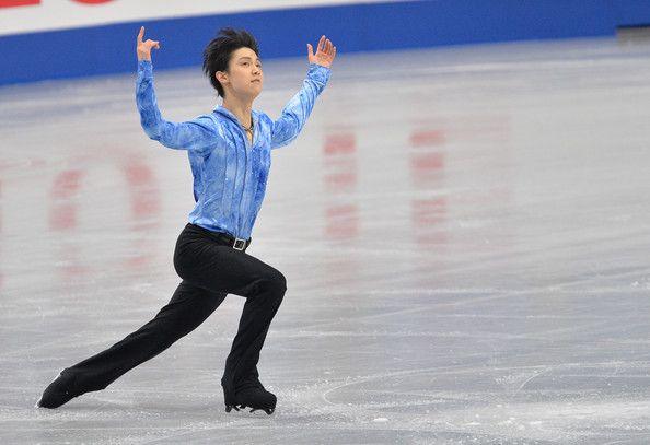 Yuzuru Hanyu of Japan performs in the men's short program during All Japan Figure Skating Championships at Saitama Super Arena on December 2...