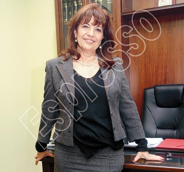 Η υποψήφια πρόεδρος του κόμματος των «ανδρών» Φανή Παυλάκη.