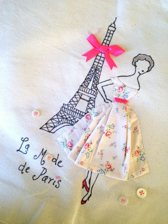 Paris 1950's French Fashion Retro Chic por PetiteSourisStudio, €25.00