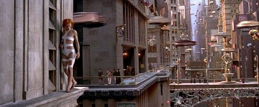 """The Fifth Element""- various buildings and architectural elements on the city scape scenes."