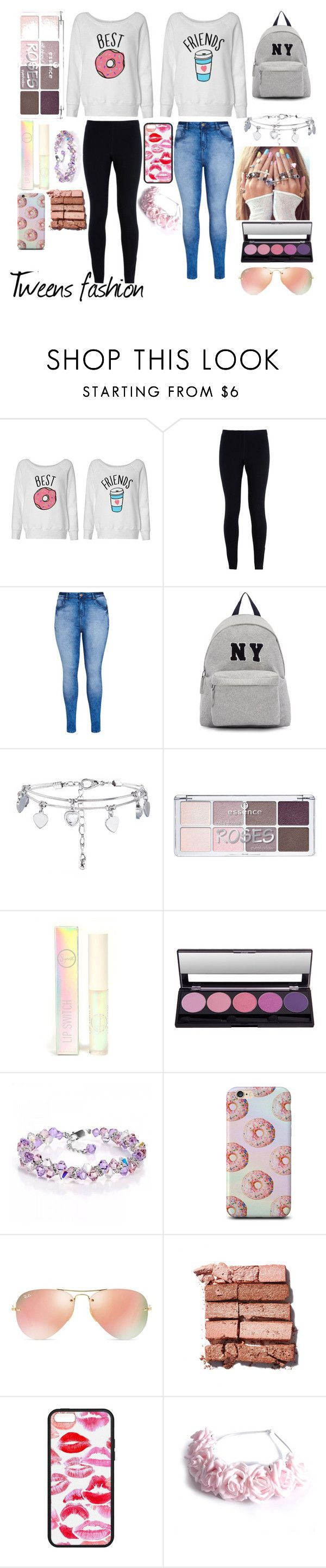 """tweens fashion"" by directioner-for-all-my-life ❤ liked on Polyvore featuring NIKE, City Chic, Joshua's, Sigma Beauty, Ray-Ban, Bobbi Brown Cosmetics and LOTTA"