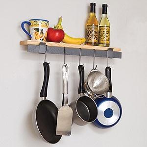 Wall Bar and Bamboo Shelf $60: Pot Racks, Idea, Shelf Pot, Wall Bar, Shelves, You, Kitchen, Bamboo Shelf